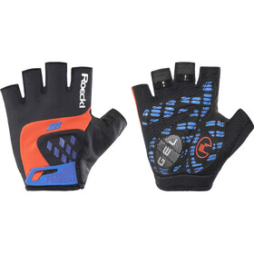 Roeckl Idegawa Gants, black/fiesta red